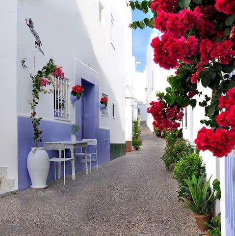 Centro, flores, aire AC, tranquila - Conil de la Frontera - Dom