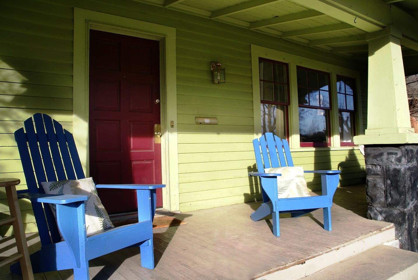 Front porch of our 1919 Craftsman home gets great sun