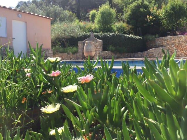 rez de villa avec piscine  et climatisation