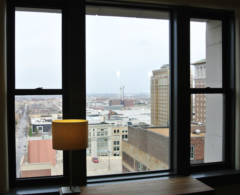 Views from your large Chicago-style windows