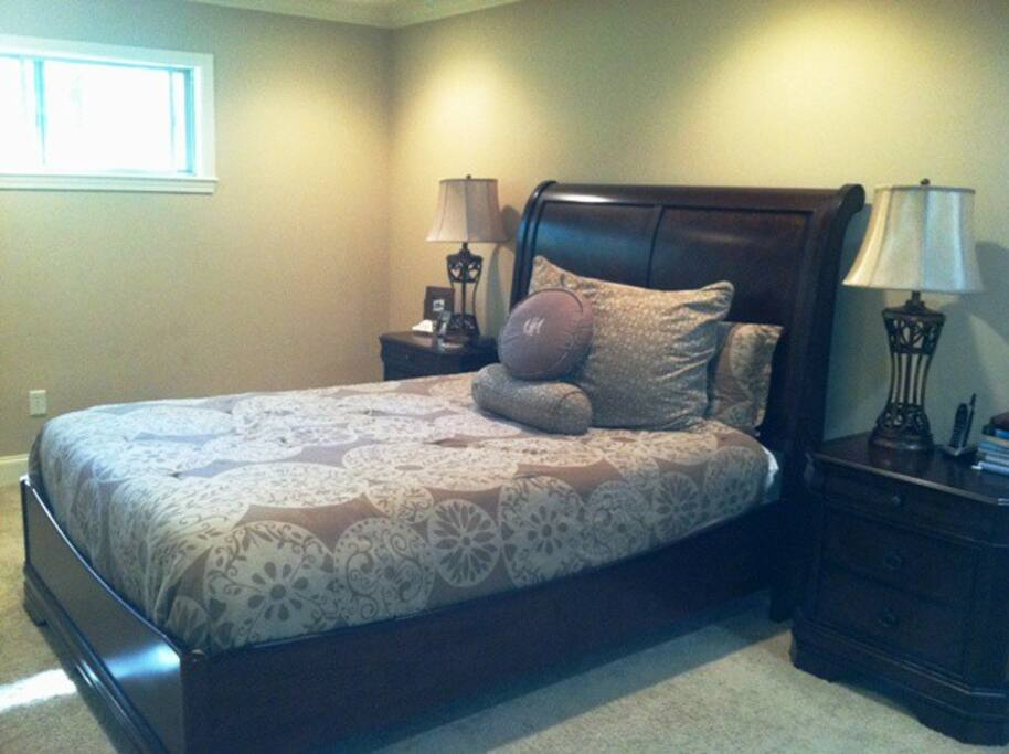 Four bedrooms provide space for guests