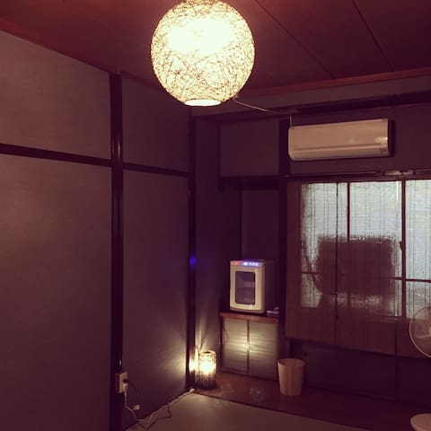 Cafe inn is located in nostalgic shopping street - 岡山市 - Guesthouse