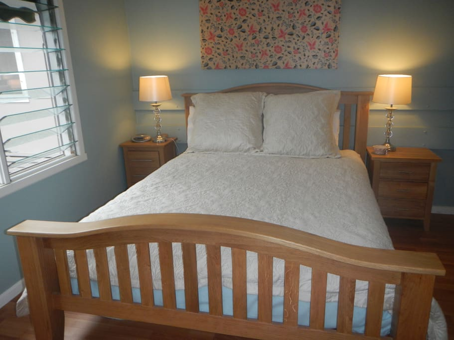 Master Bedroom.  Very spacious and airy.  Queen size bed and lots of storage.