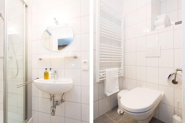 En suite, with free toiletries