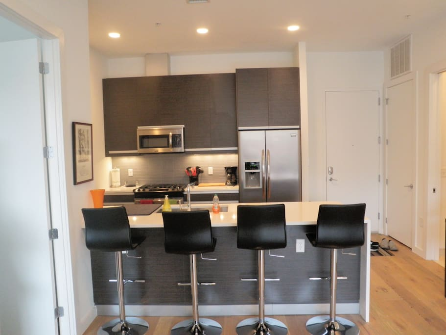 Gourmet kitchen with SS appliances