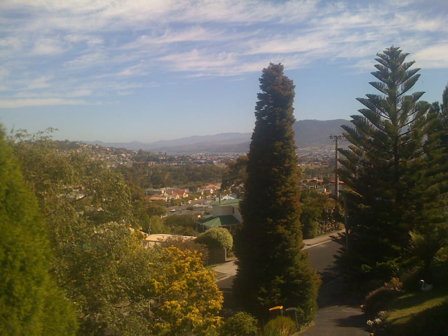 Views from dining room.  Derwent river in background.
