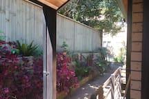 Private back courtyard /garden