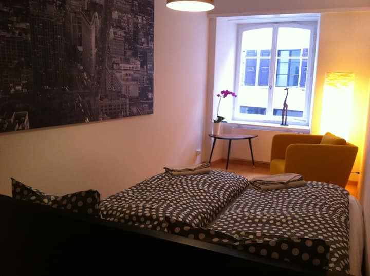Rhii B&B - Comfortable double-room by the river