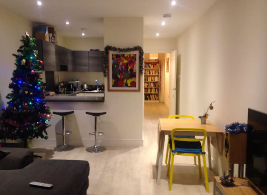 Use of shared living space and kitchen