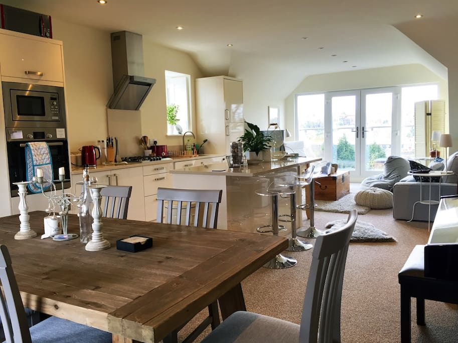Main living space - open plan dining room, kitchen, lounge