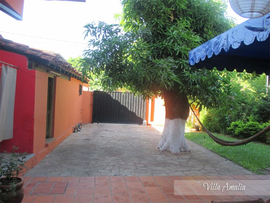 Backyard and private parking
