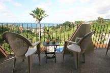Terrace in front of bedrooms