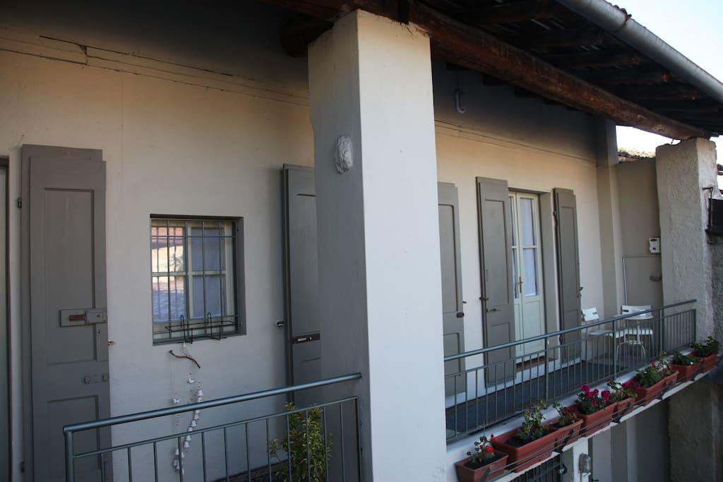 il Balcone della Camera della Vista      Room of The View balcony