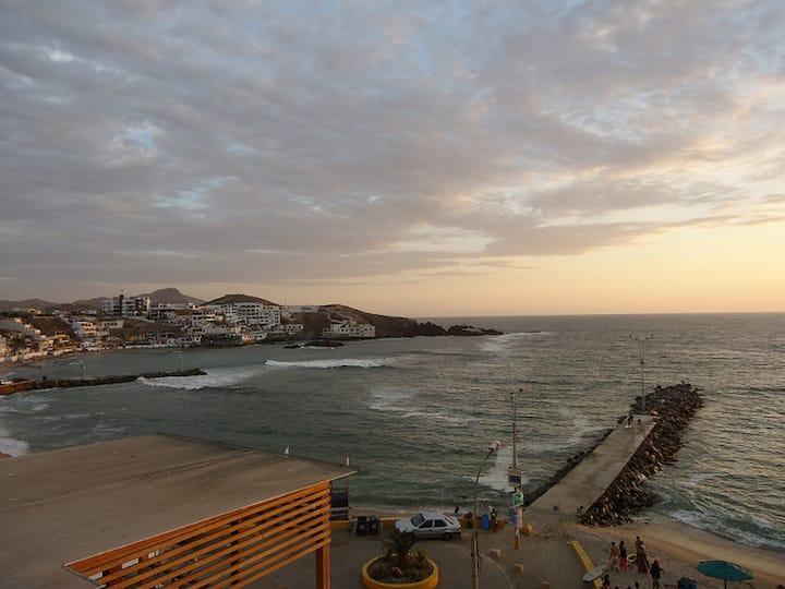 San Bartolo lindo departamento frente al mar