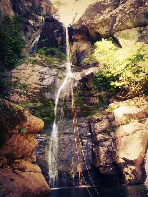 Canyoning at kissavos mountain
