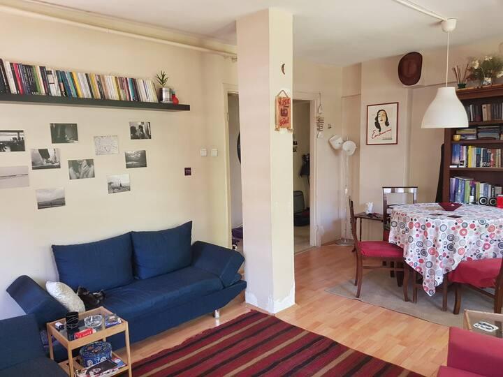 Cosy apartment with a garden in Central Kadıköy