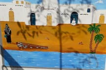 Art by the nubian Artist Mahmoud Selim at a wall from our Terrace