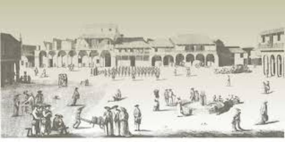 Plaza Vieja during British Occupation