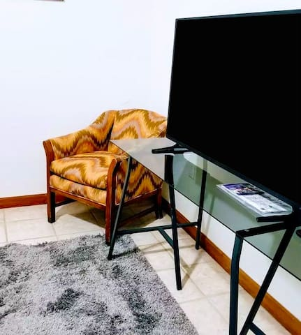 Great place to relax and watch TV in the bedroom
