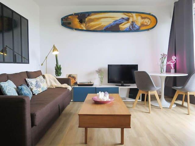 Grand studio pour couple avec vue sur mer