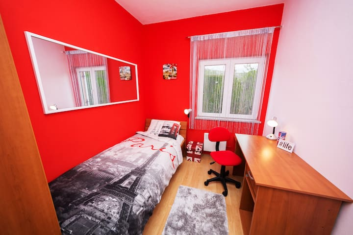ROOM 2: SWEET DREAMS IN THE COMFORTABLE SINGLE BED (0.9 x 2.0m) (BY GUEST'S REQUEST WE WILL PUT ONE ADDITIONAL SINGLE BED (0.9 x 2.0m)