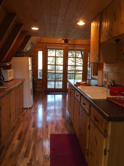 Kitchen View of Lower Deck
