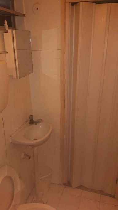 Banheiro visto de dentro