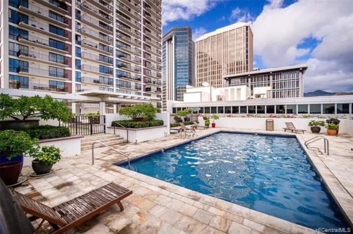 +Ocean View, Downtown near Kakaako, Long-term stay