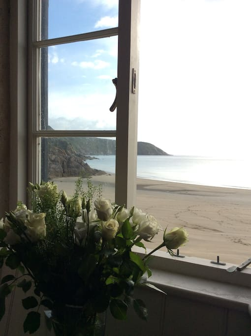 View from the sitting room with the tide out.