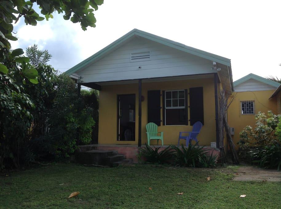 front door to villa