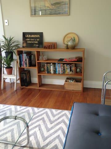Groovy lounge, Kiwiana books and nooks