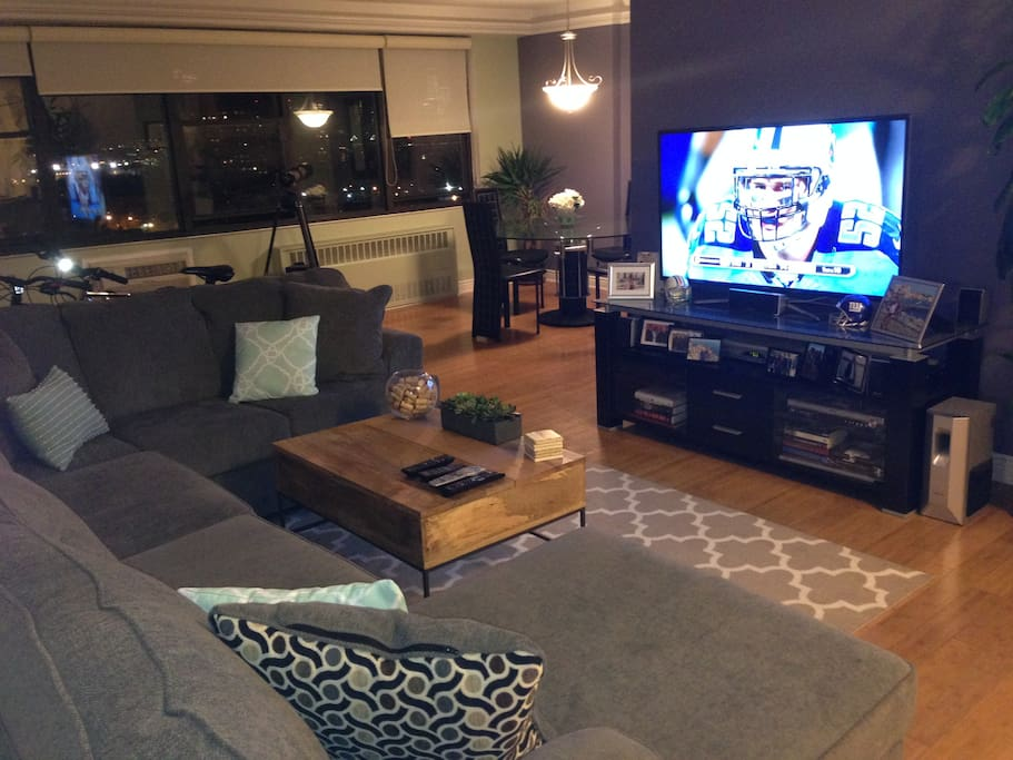 Living Room with sectional couch