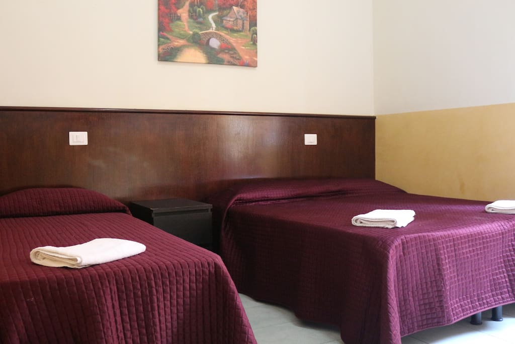 Angelo hostel triple room with private bathroom