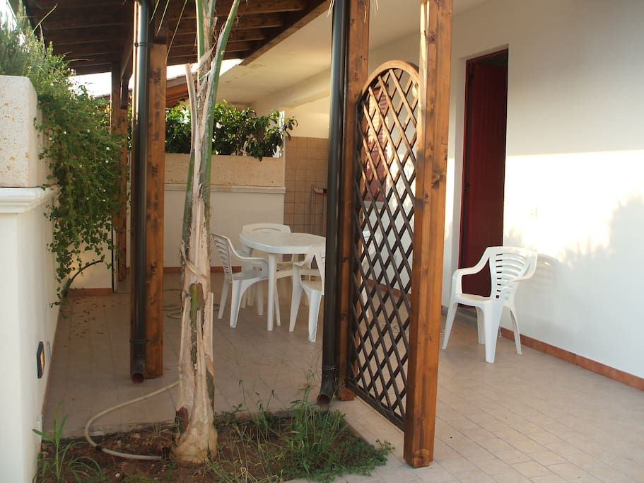 Particolare veranda esterna