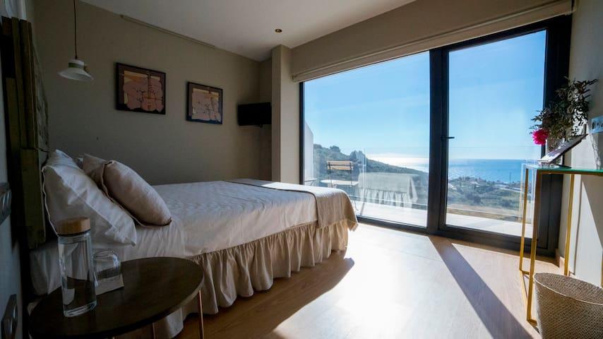 Casa SiempreViva | Habitación Doble con terraza y vistas al mar