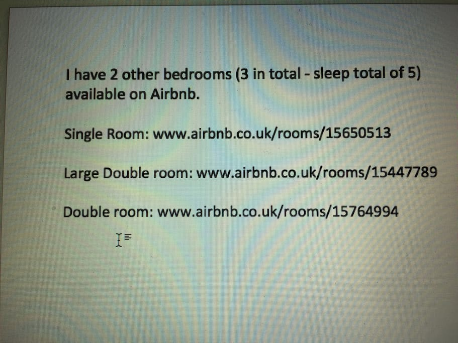 Book multiple rooms in my house !!