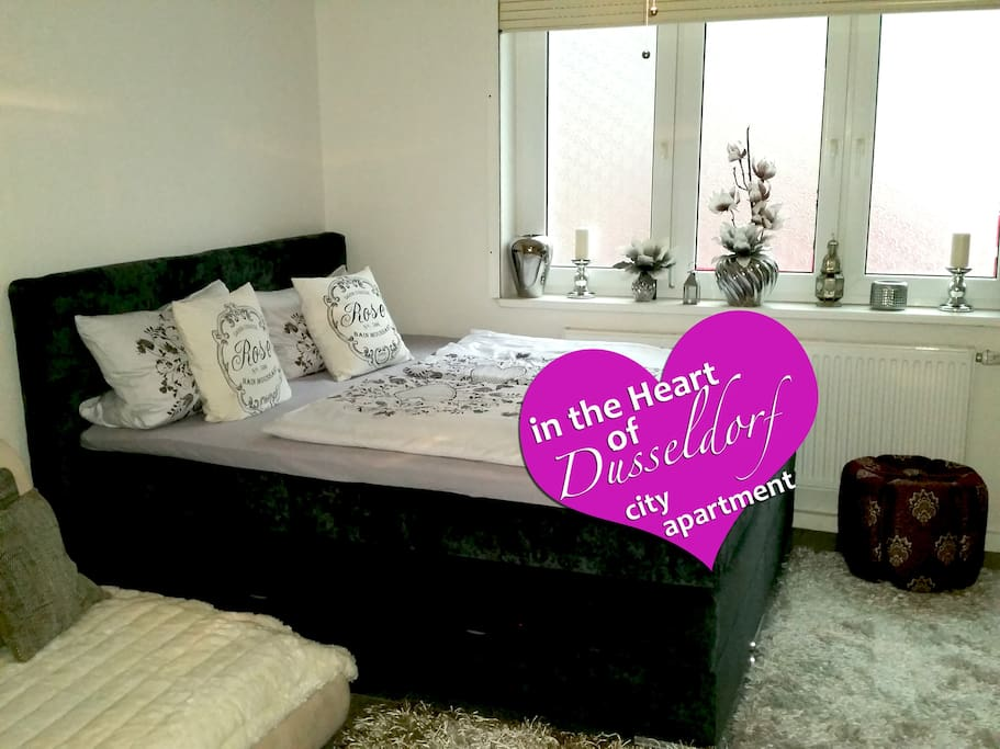 Relaxed sleeping in my big comfortable Boxspringbett ideal for 2 Adults