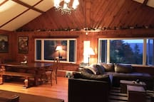 Enjoy the mountain views right from the living room.