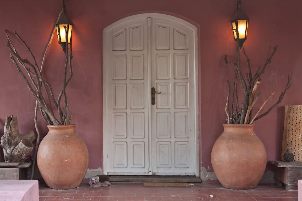 entrada a casa grande