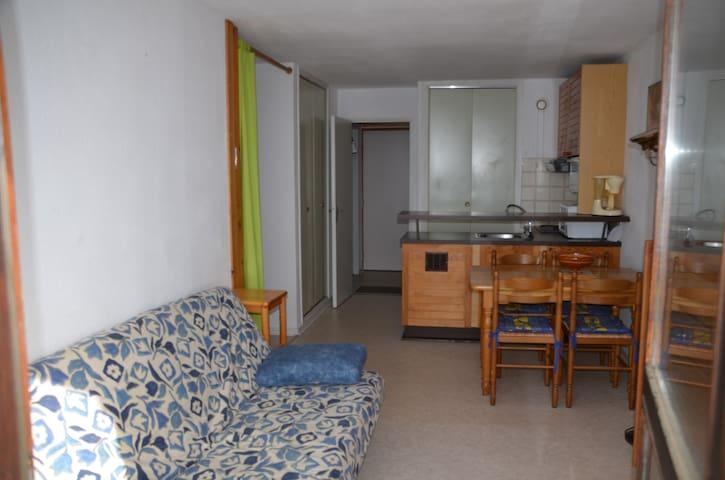 T1 bis meublé près pistes expo sud - Font-Romeu-Odeillo-Via - Leilighet