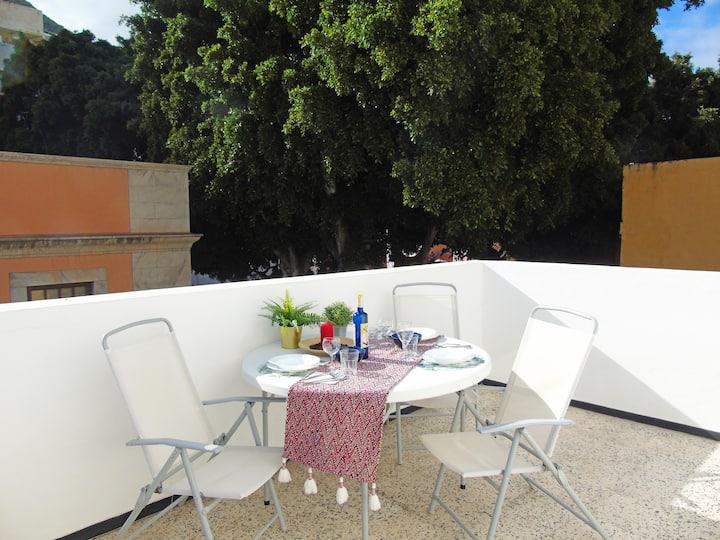 Ático Fleitas con terraza en San Andrés, con Wi-Fi