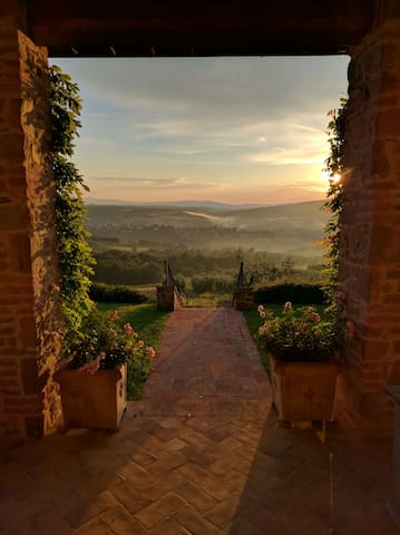 Amazing view over an Umbria valley - Piegaro - Villa