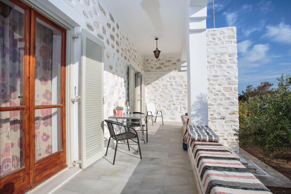 Vila Melpomeni - West balcony