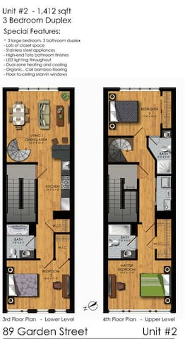 Spacious two-story; 1,400 Sq/ft.