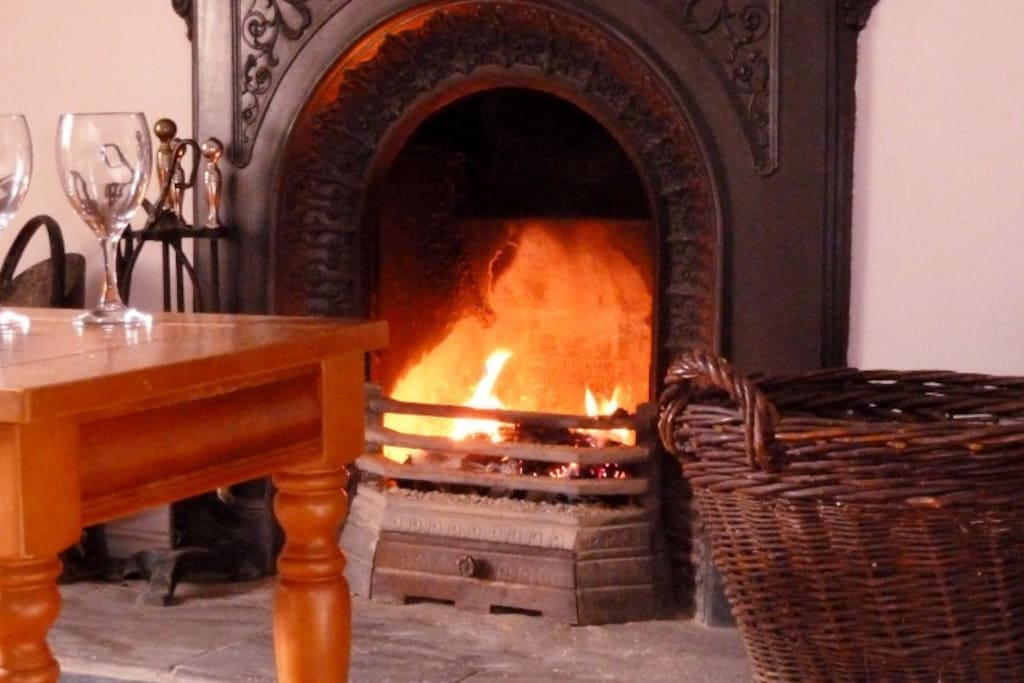 Curling up in front of a real Irish turf fire (we have proper central heating too!)