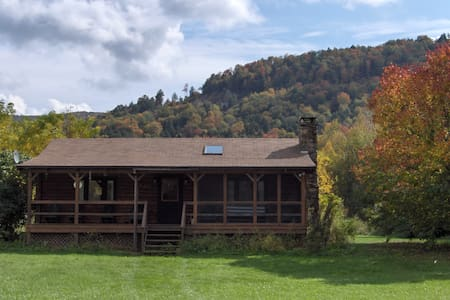 Catskill Mountain Riverside Cabin - Downsville - Kisház
