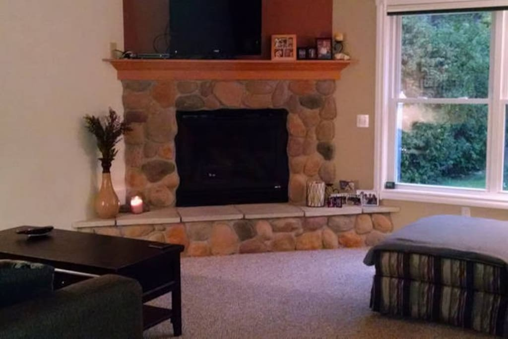 Fire Place and TV in Living Room