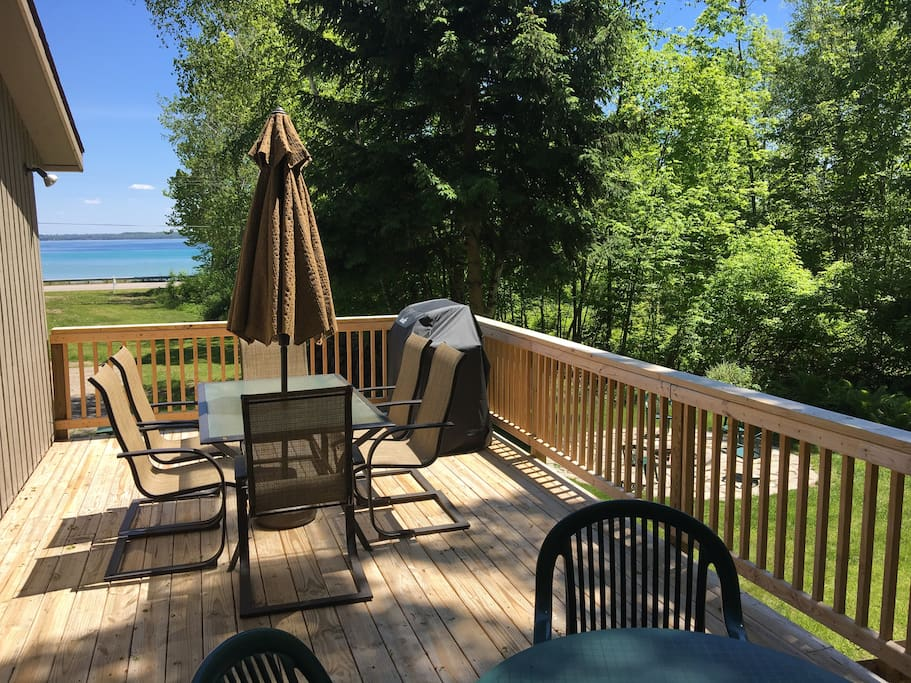 Deck with a view and gas grill