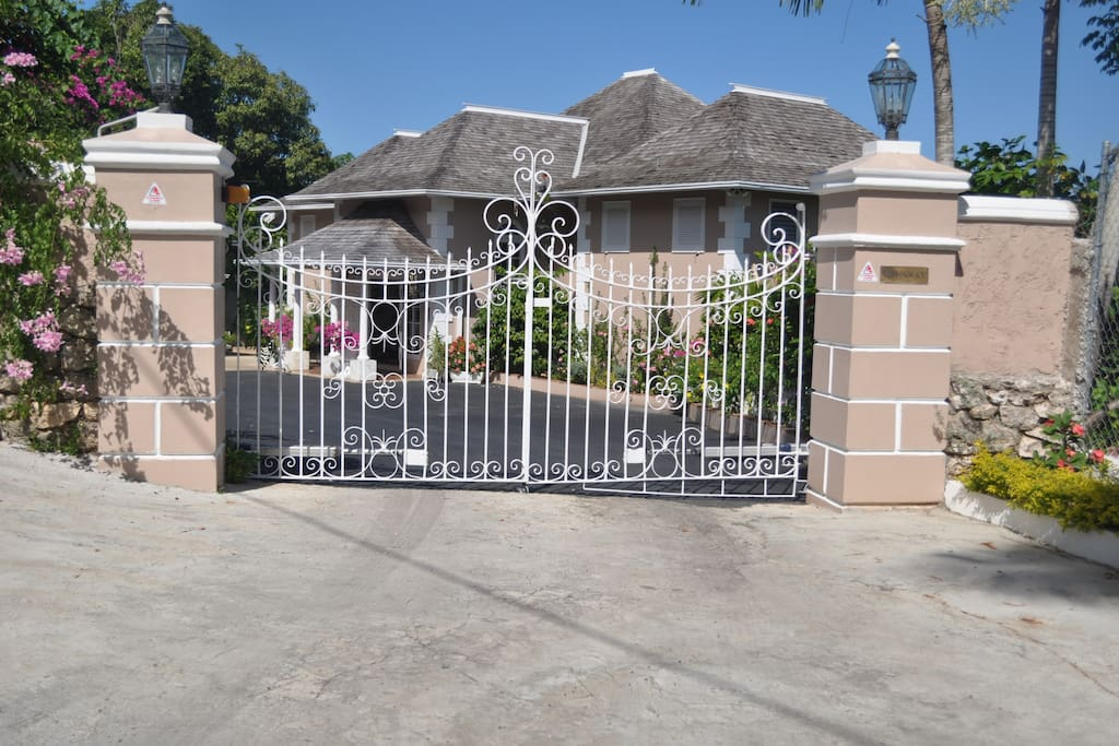 Main gate of property.
