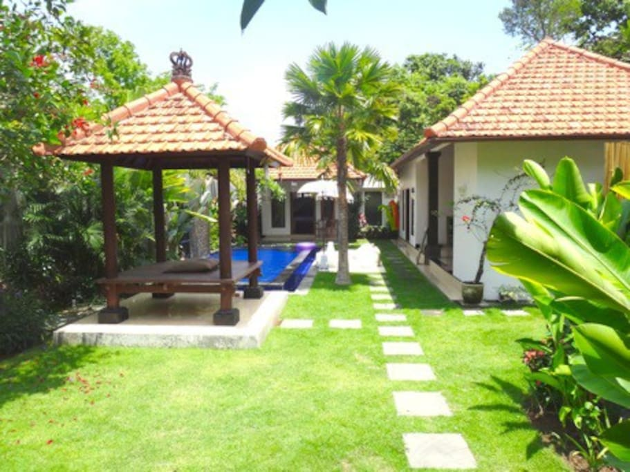 Yoga in the garden. Villa was recently updated. Will be posting new photos soon